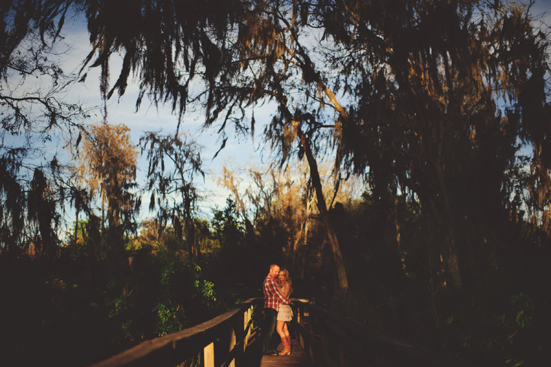 clermont fl engagement: romantic