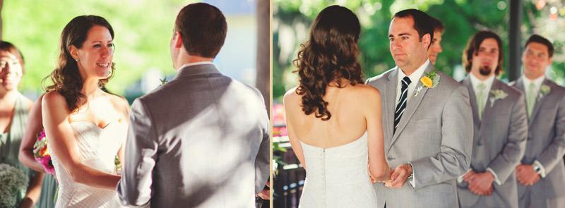 Winter Park Famers Market Wedding: saying vows