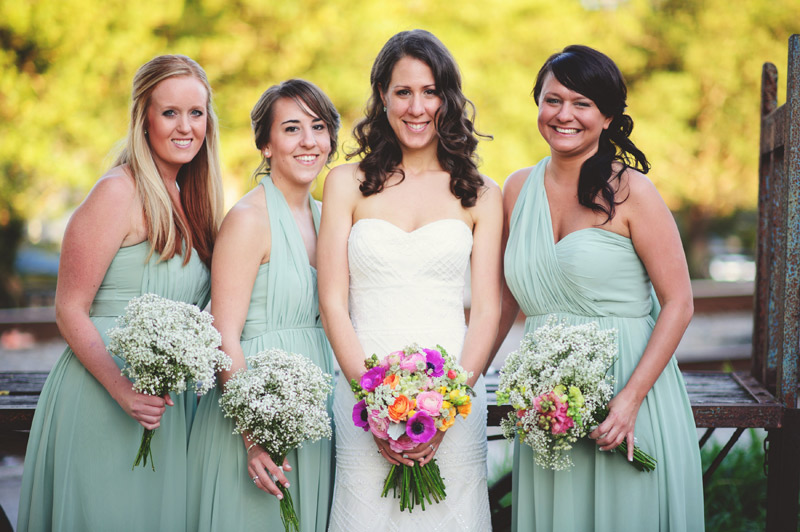 Winter Park Famers Market Wedding: bridesmaids