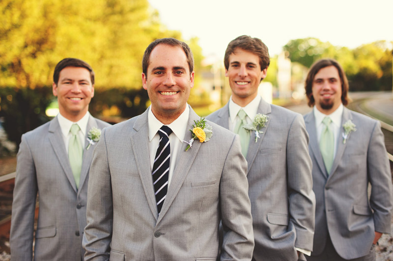 Winter Park Famers Market Wedding: groomsmen