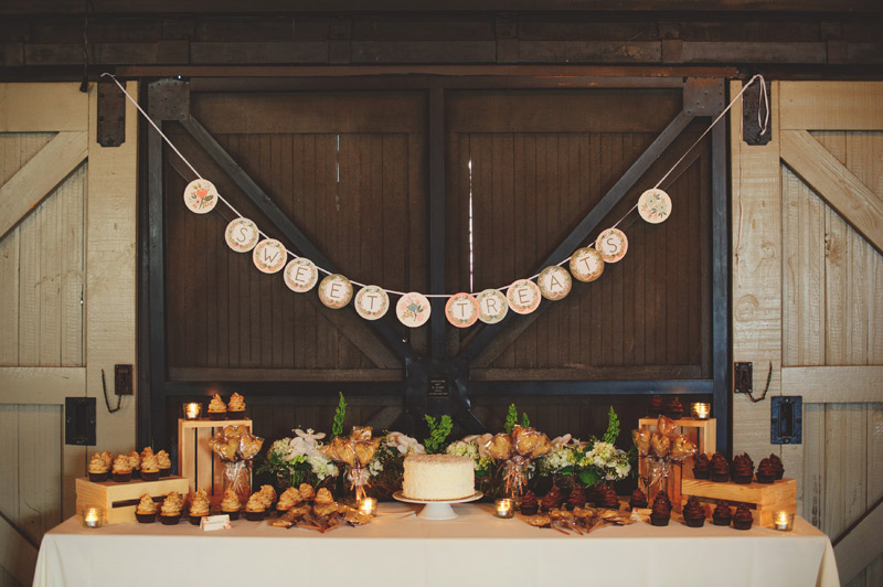 Winter Park Famers Market Wedding: sweets table