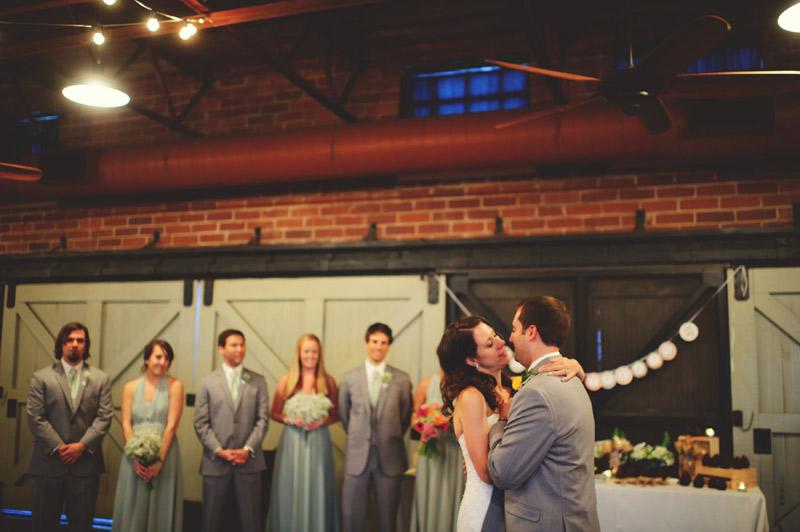 Winter Park Famers Market Wedding: first dance