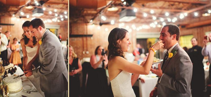 Winter Park Famers Market Wedding: cake cutting