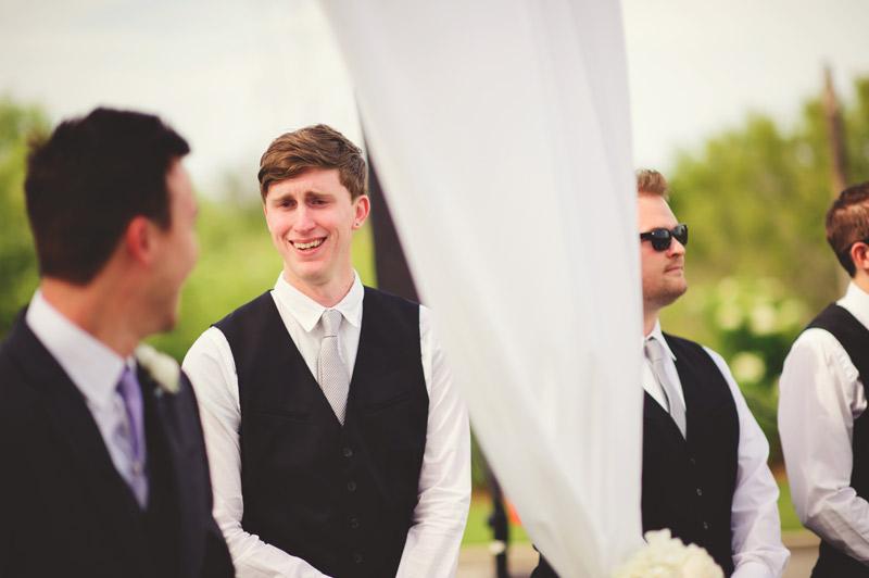 lakewood ranch wedding: best man so happy for groom