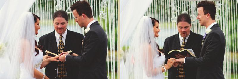 lakewood ranch wedding: ring exchange