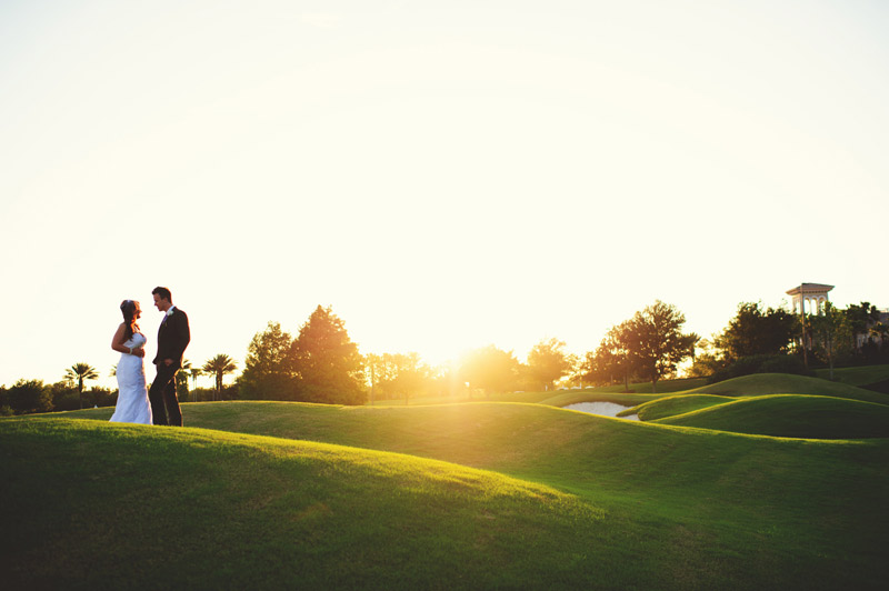 lakewood ranch wedding: golf course portraits