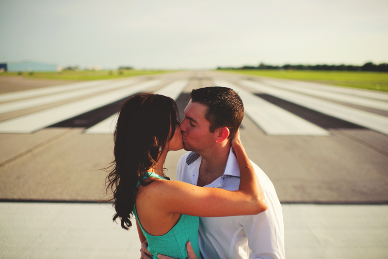 romantic airport engagement session: sexy