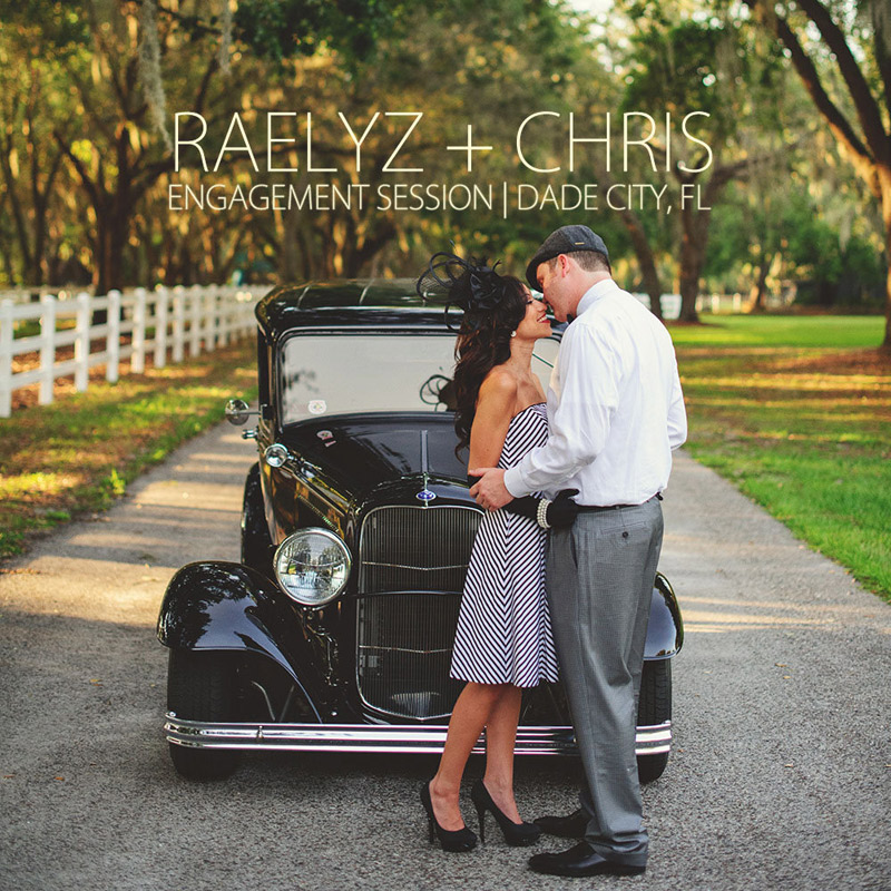 Raelyz Chris Vintage Engagement Session Dade City FL Jason - Dade city fl car show