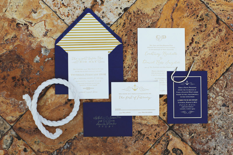 ringling museum wedding: invitation
