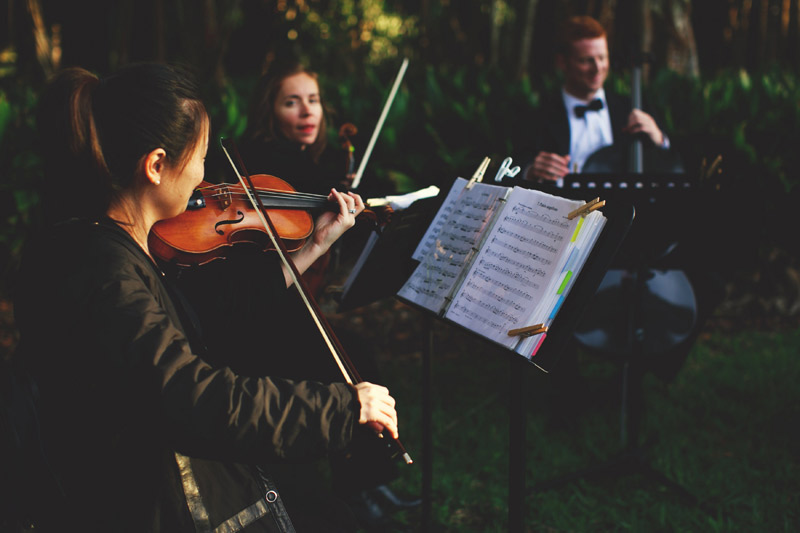 ringling museum wedding: string quartet