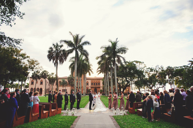 ringling museum wedding: ceremony