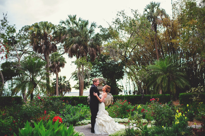 ringling museum wedding: portraits in the garden