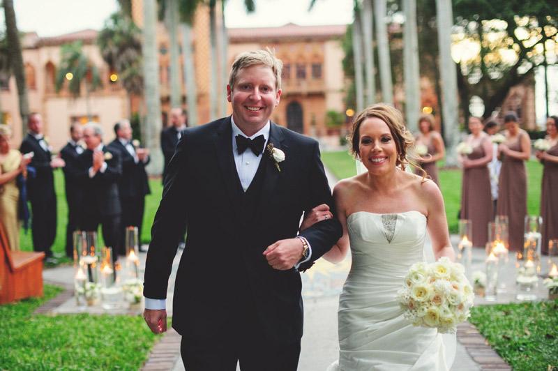 ringling museum wedding: recessional