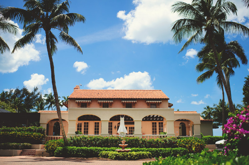 naples backyard beach wedding : tuscan house with wedding dress