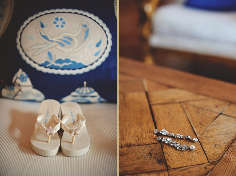 naples backyard beach wedding: shoes, jewelry