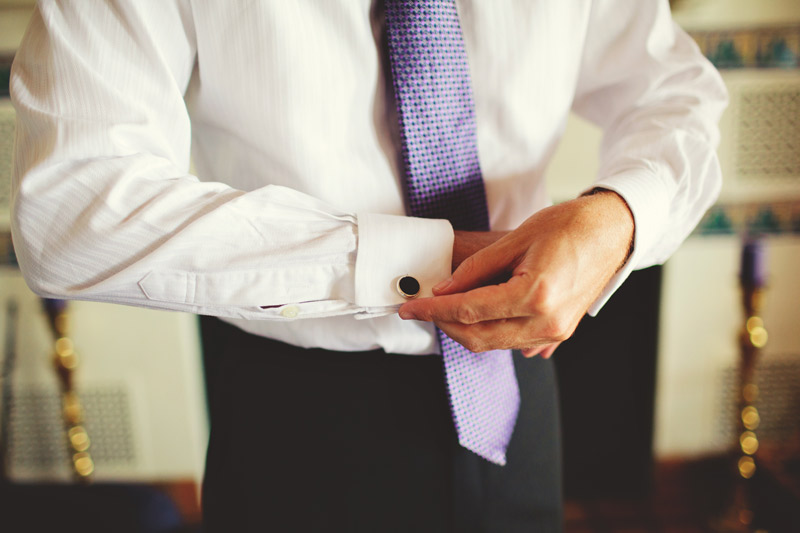 naples backyard beach wedding: groom cuff links