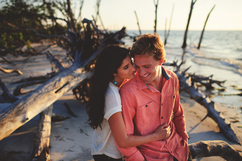 coquina beach engagement photographer