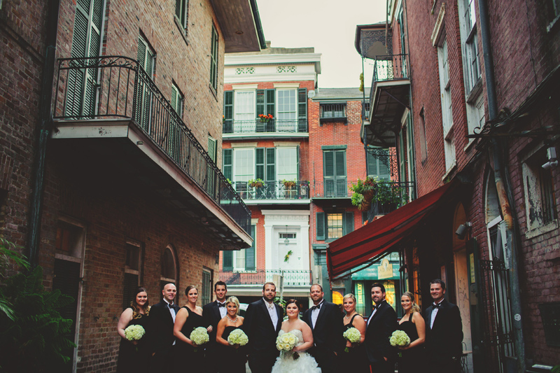 montegut house wedding: bridal party