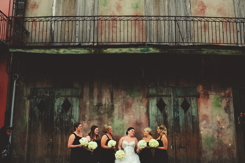 montegut house wedding: bride and bridesmaids