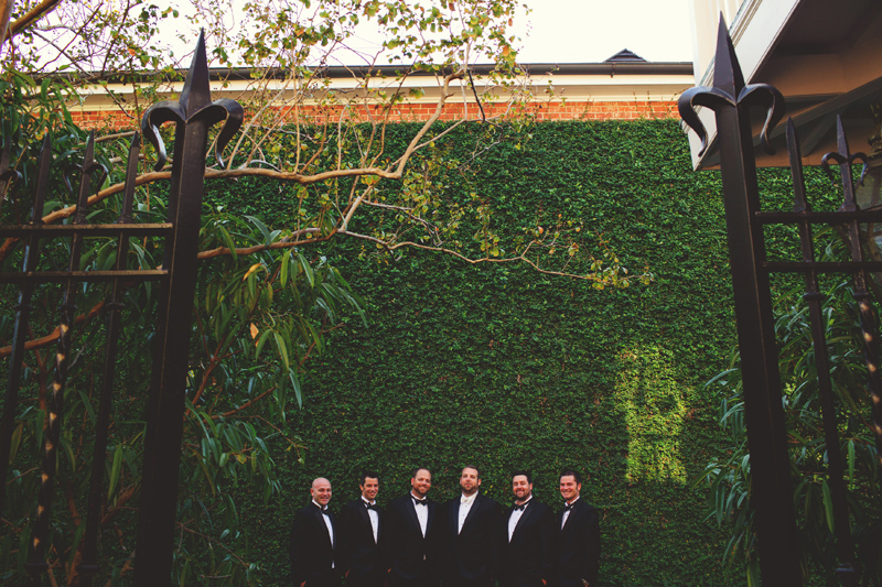 montegut house wedding: groom and groomsmen