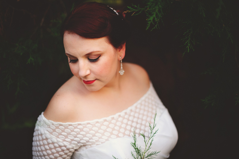 winter park farmers market wedding: vintage bridal portrait