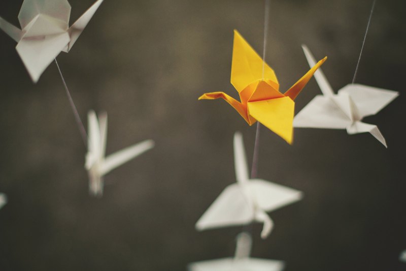 winter park farmers market wedding: diy origami paper birds