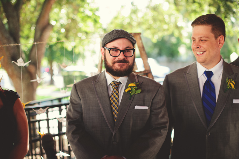 winter park farmers market wedding: happy groom