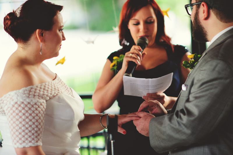 winter park farmers market wedding: ring exchange