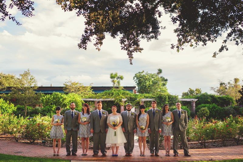 winter park farmers market wedding: bridal party