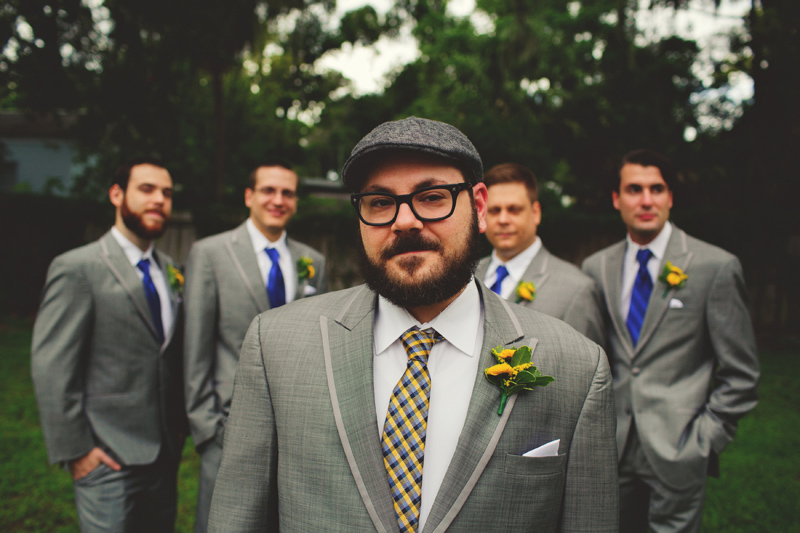 winter park farmers market wedding: groomsmen