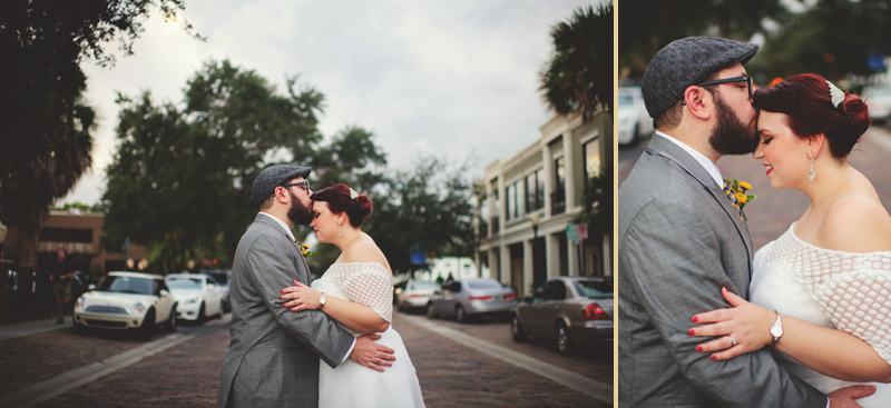 winter park farmers market wedding: romantic wedding