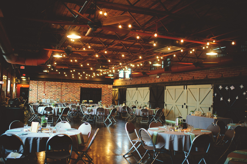 winter park farmers market wedding: reception site
