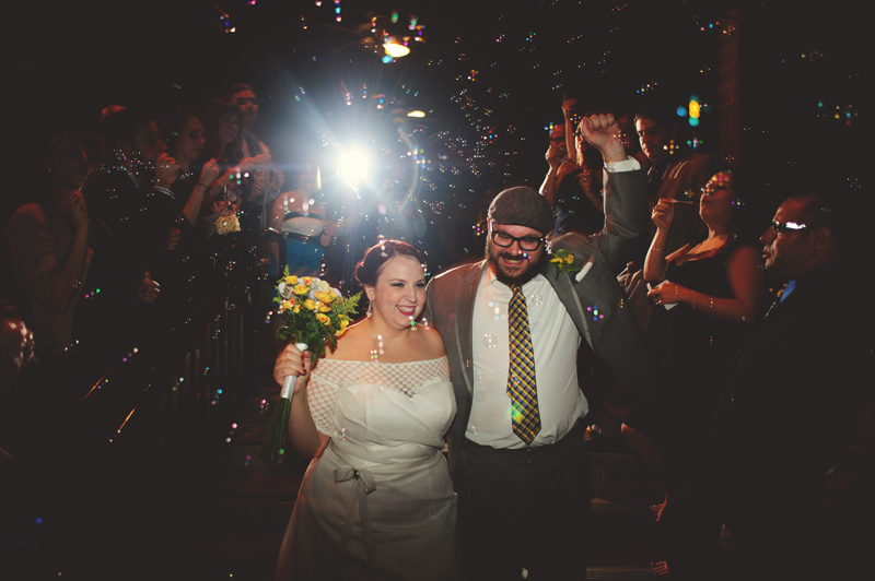 winter park farmers market wedding: bubble send off