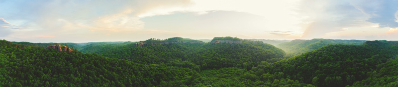panoramic shot of red river gorge