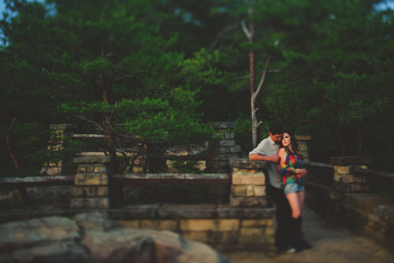 red river gorge engagement: chimney rock