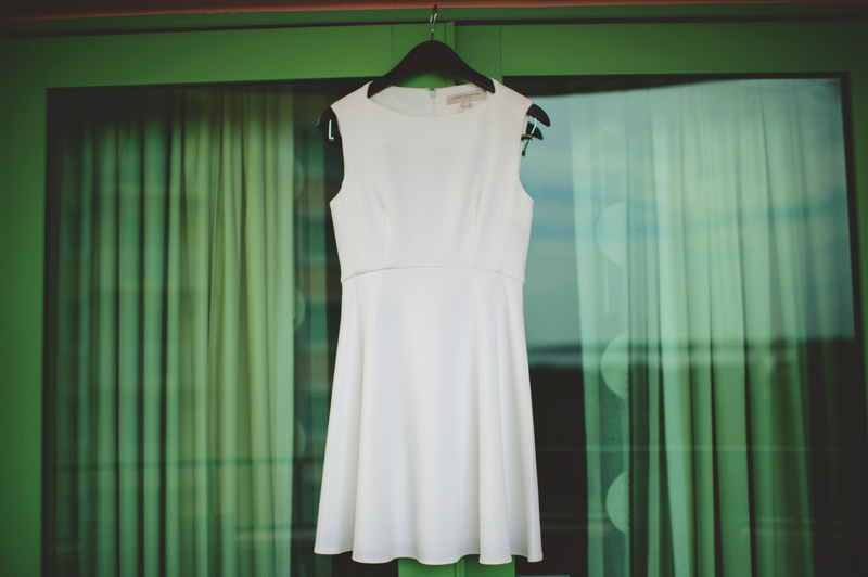 st pete elopement:  french connection wedding dress