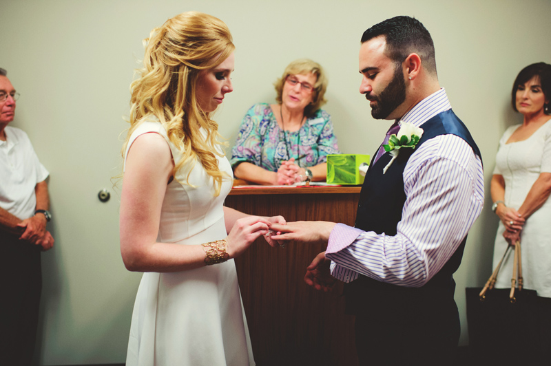 st pete elopement:  ring exchange