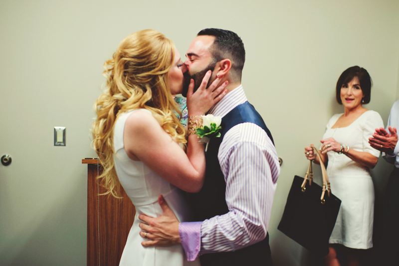 st pete elopement:  first kiss