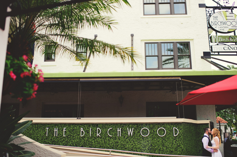 st pete elopement:  dinner at the birchwood
