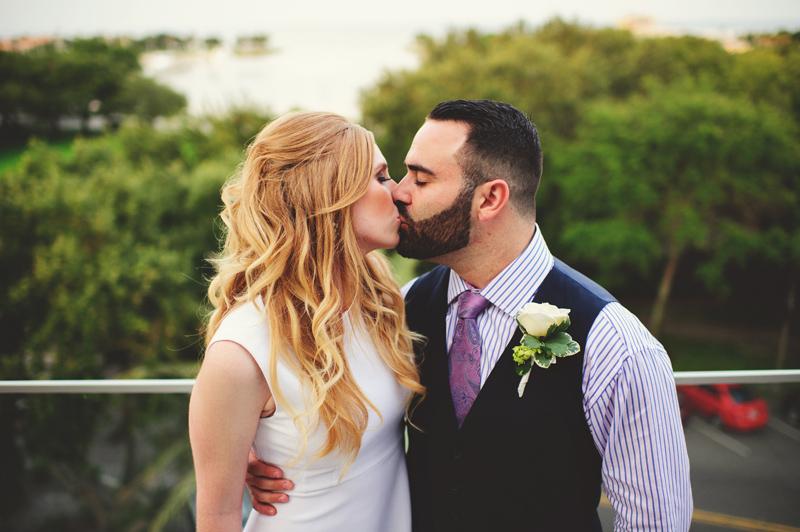 st pete elopement:  birchwood balcony