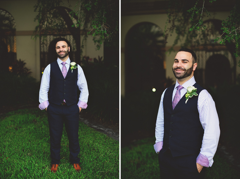 st pete elopement:  groom portraits
