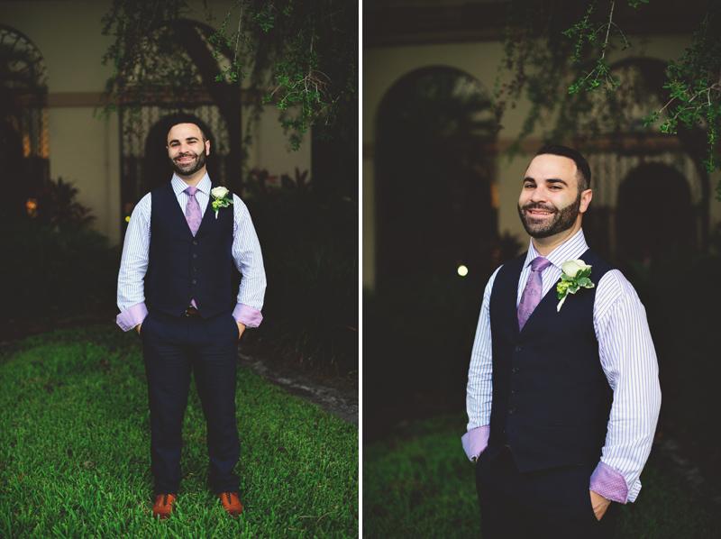 st pete elopement:  groom portraits