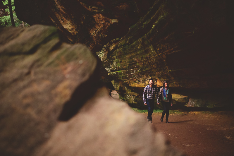 hocking hills engagement: gorge