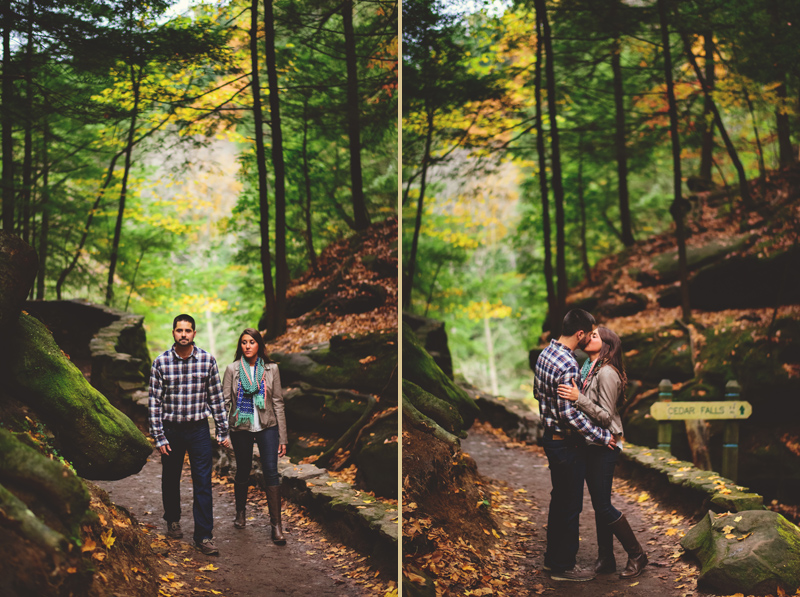 hocking hills engagement: cedar falls