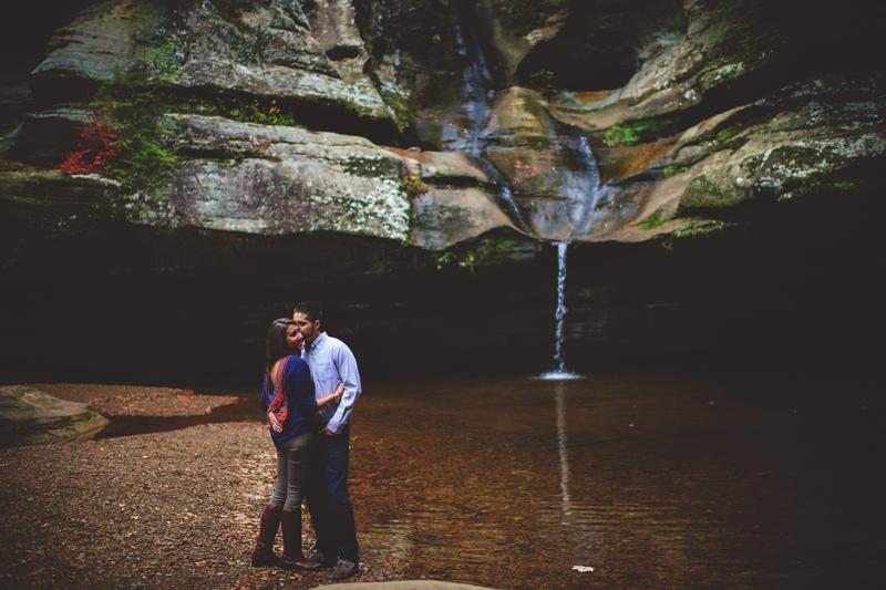 hiking engagement photos