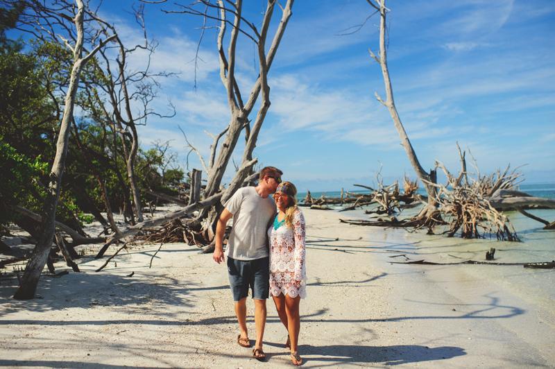 bohemian beach couple