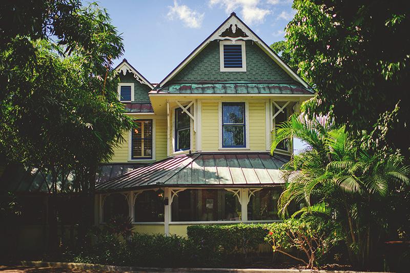 romantic sundy house wedding: building