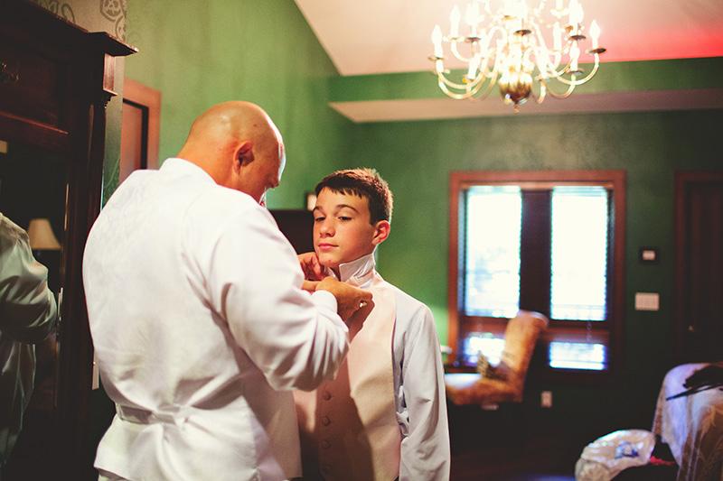 romantic sundy house wedding: getting son ready