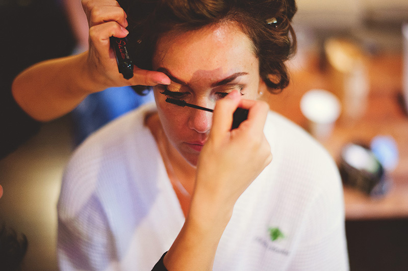 romantic sundy house wedding: makeup mascara