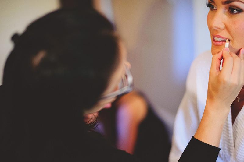 romantic sundy house wedding: brides lipstick